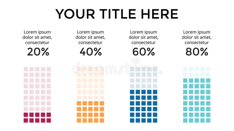 Vector infographic, carta del diagrama, presentación del gráfico Plantilla del negocio con 4 opciones, piezas, pasos, procesos 16 stock de ilustración