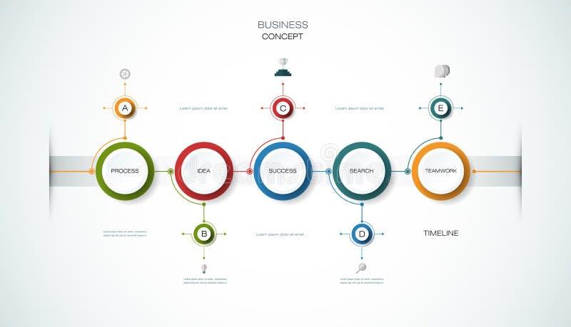 Vector infographic chronologie, Bedrijfsconcept vector illustratie