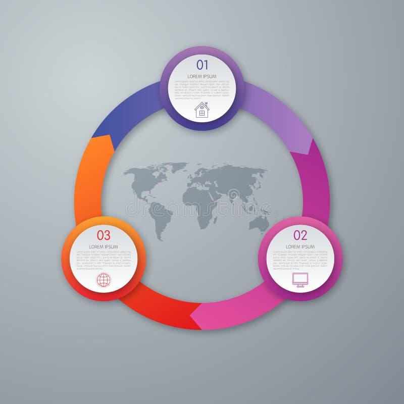 Vector infographic cirkel stock illustratie