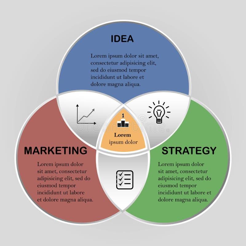 Vector infographic cirkel Malplaatje voor infographics van het cyclusdiagram, groepswerk bedrijfsconcept met royalty-vrije illustratie