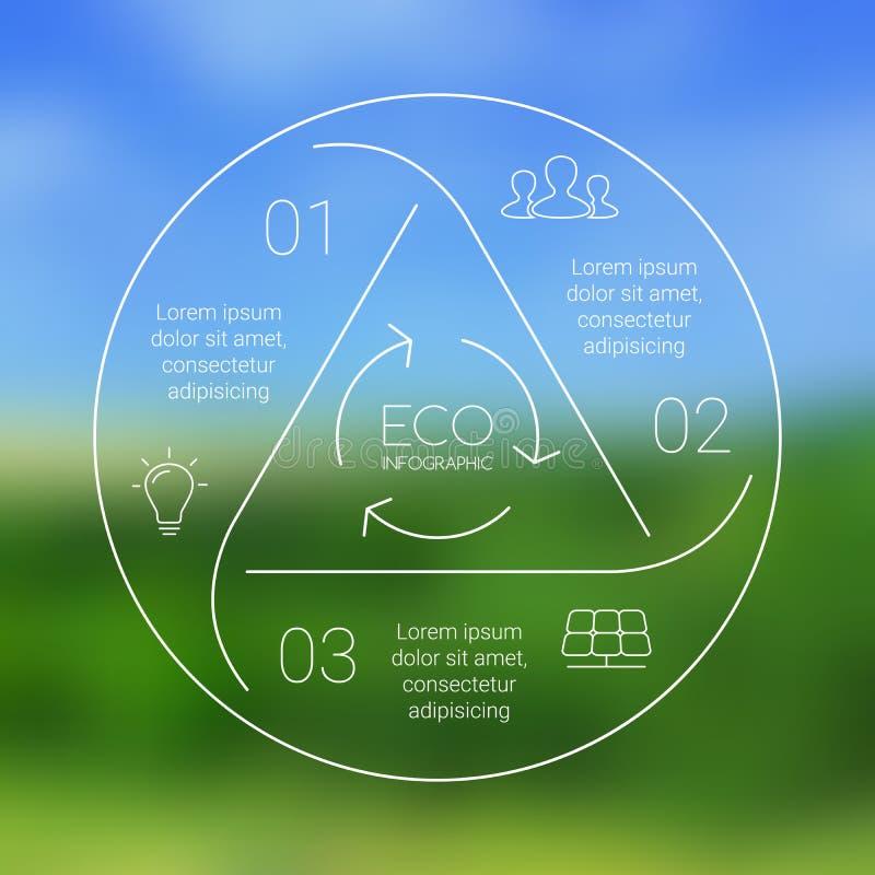 Vector infographic cirkeleco Dit is dossier van EPS10-formaat vector illustratie