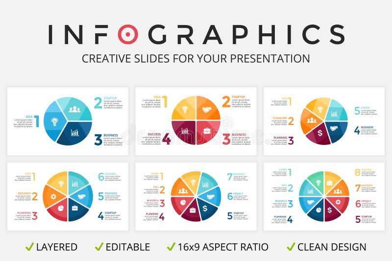 Vector infographic cirkelpijlen, cyclusdiagram, grafiek, presentatiegrafiek royalty-vrije illustratie