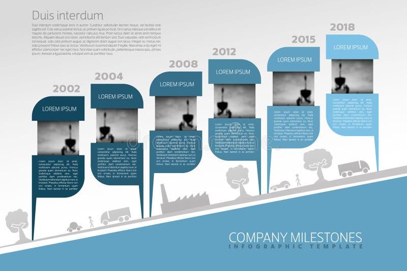 Vector Infographic Company κύρια σημεία διανυσματική απεικόνιση