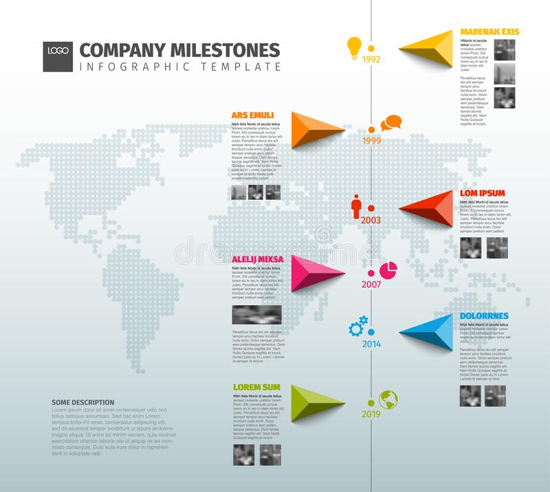 Vector Infographic Company History Timeline Template vector illustration