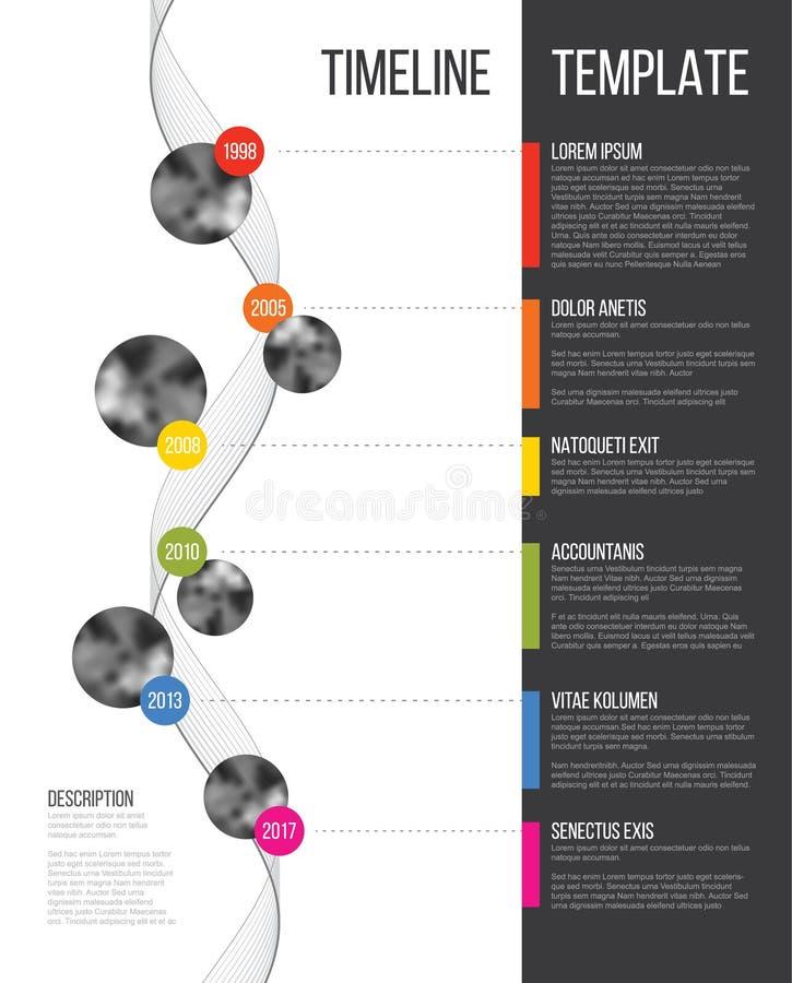 Vector Infographic Company Milestones Timeline Template vector illustration