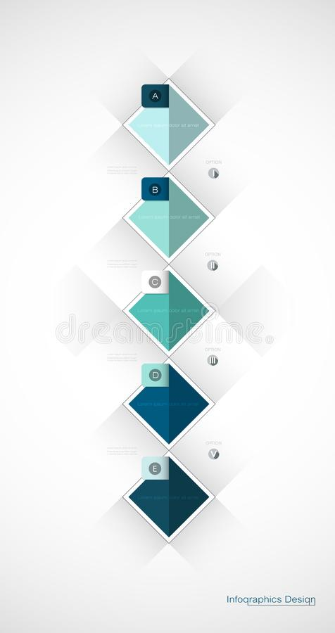 Vector Infographic 3d geometric label template design. royalty free illustration