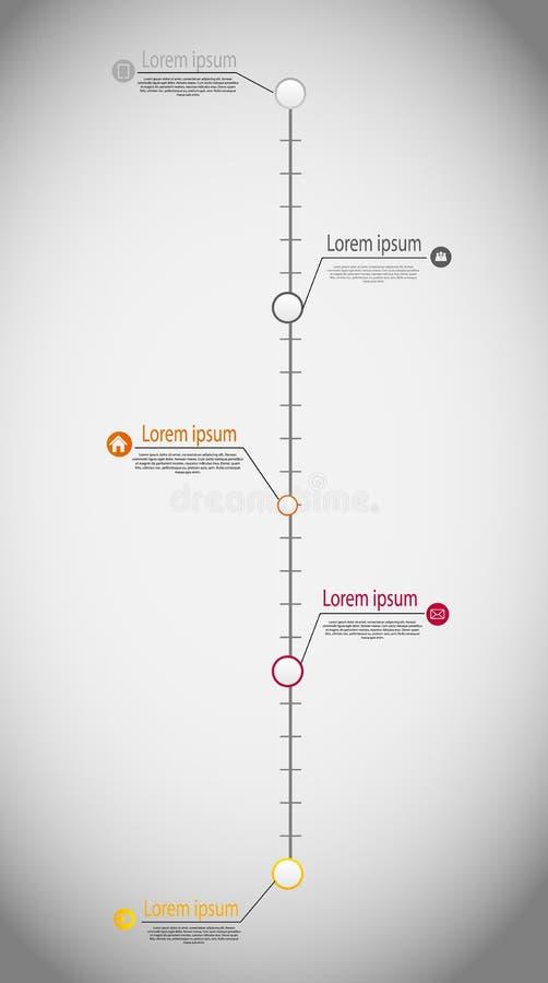Vector infographic de la plantilla del negocio de la cronología stock de ilustración