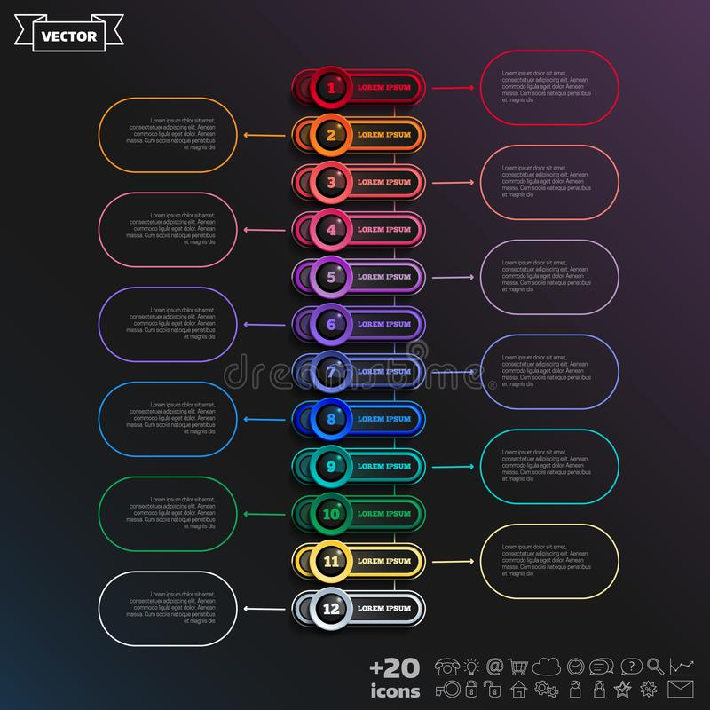 Vector infographic design with colorful circle stock illustration