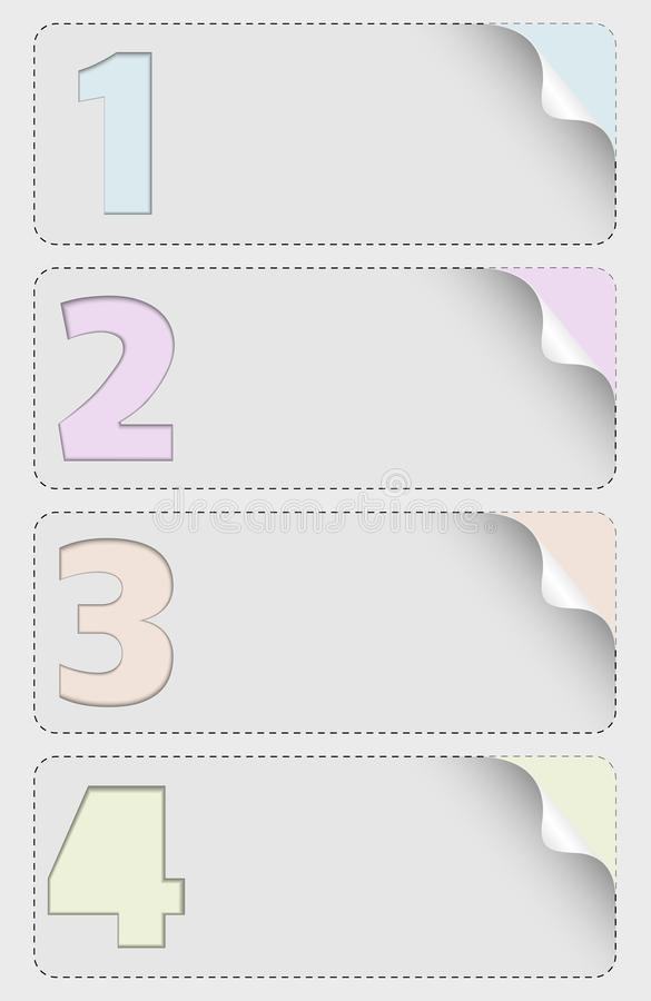 Vector infographic design with four numbers stock illustration