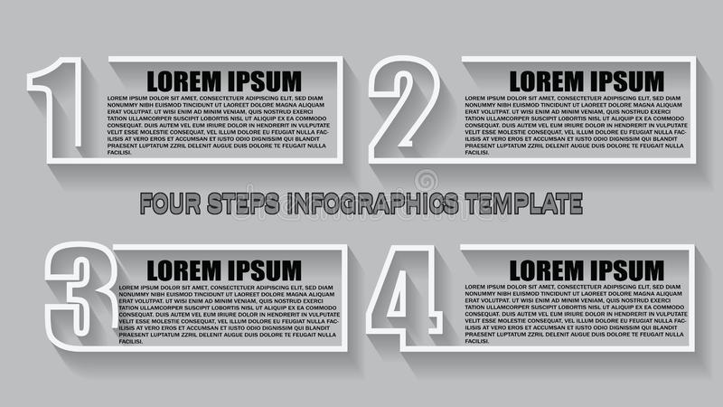 Vector Infographic design template with 4 options or steps. Can be used for process diagram, presentations, workflow layout, banne vector illustration