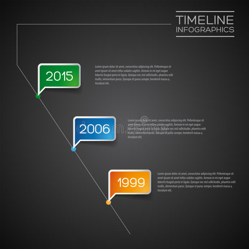 Vector Infographic diagonal timeline report template royalty free illustration