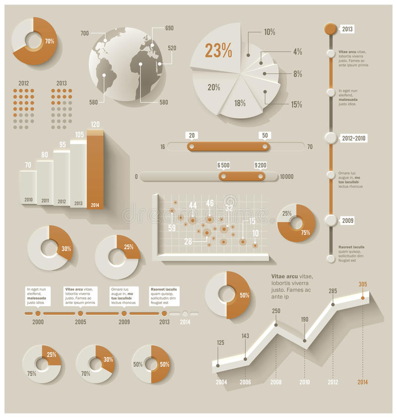 Vector infographic elementen vector illustratie