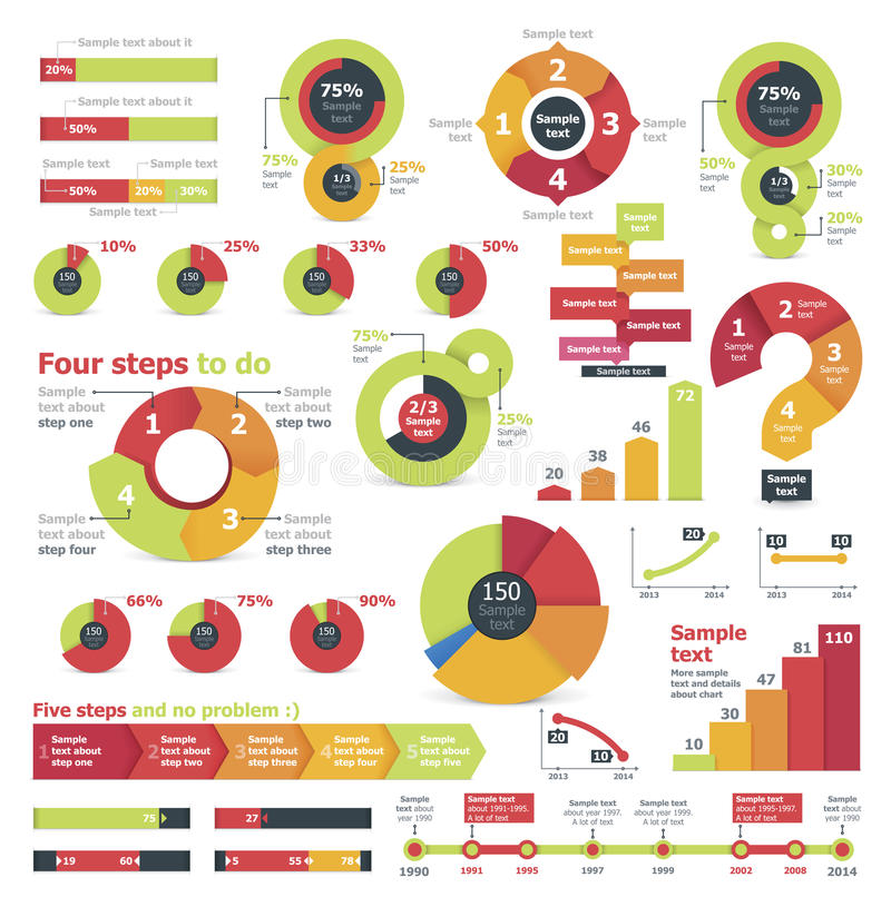 Vector infographic elementen stock illustratie
