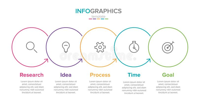 Vector infographic label template with icons. 5 options or steps. Infographics for business concept. Can be used for. Info graphics, flow charts, presentations vector illustration