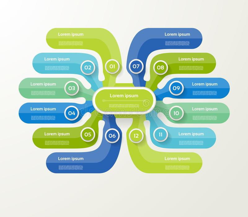 Vector infographic malplaatje voor diagram, grafiek, presentatie stock illustratie