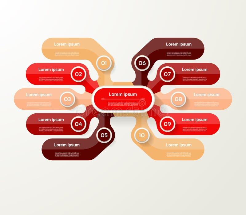 Vector infographic malplaatje voor diagram, grafiek, presentatie en vector illustratie