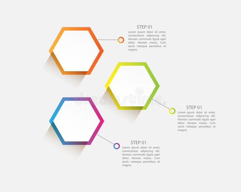 vector infographic moderno con tre punti per la presentazione illustrazione di stock