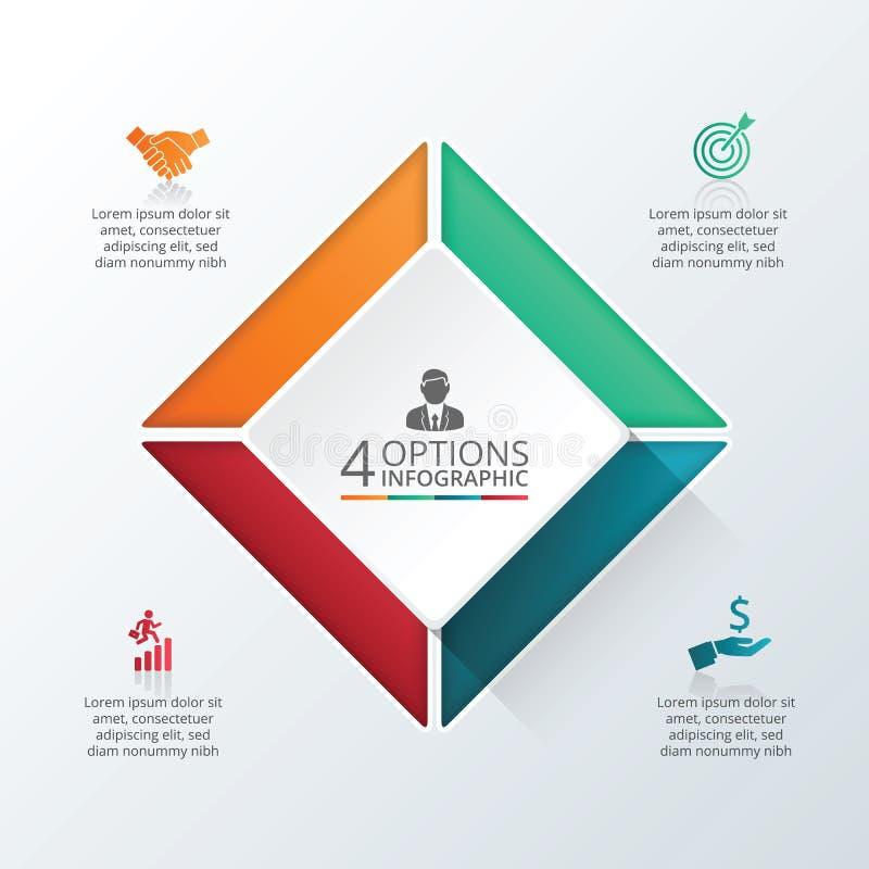 Vector infographic ontwerpmalplaatje royalty-vrije illustratie