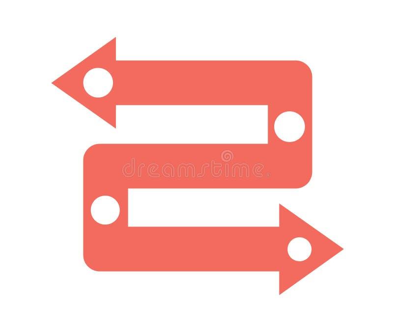 Vector infographic pijlen Bedrijfsconcept met 2 opties, delen, stappen of processen vector illustratie