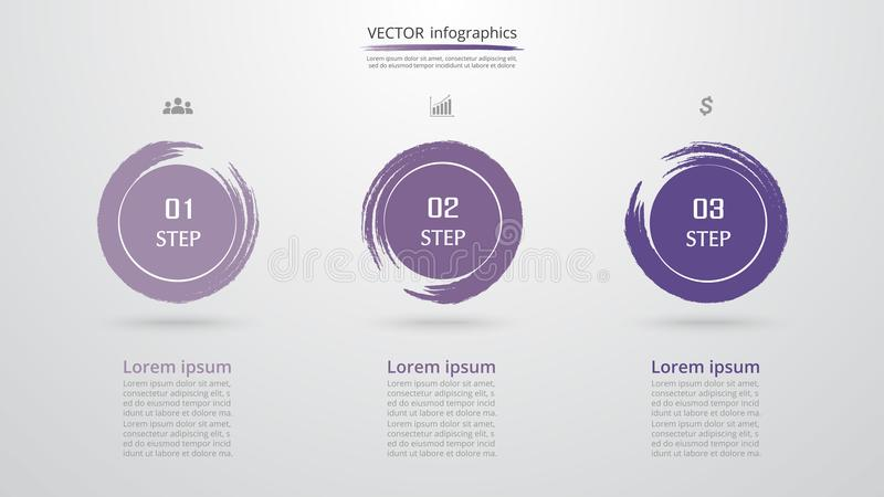 Vector infographic template stock illustration