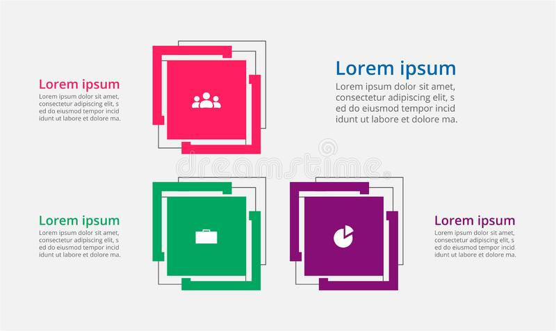 Vector infographic template. Abstract infographic template with 3 steps for success. Business template with three options for brochure, diagram, workflow, web vector illustration