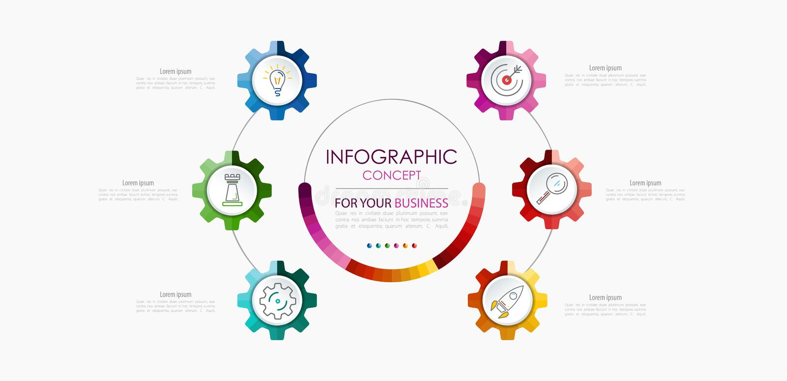 Vector infographic template. Business concept with options. Vector illustration about planning work vector illustration