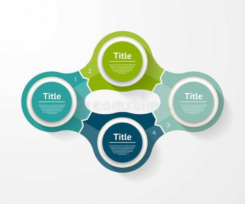 Vector infographic template for diagram, graph, presentation and chart. Business concept with 4 options, parts, steps. Or processes vector illustration