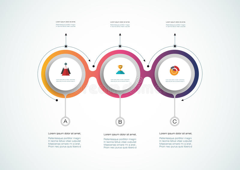 Vector infographic timeline, Business concept vector illustration