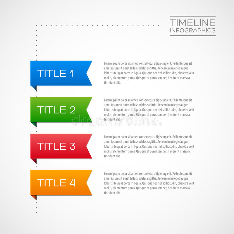 Vector Infographic timeline report template vector illustration