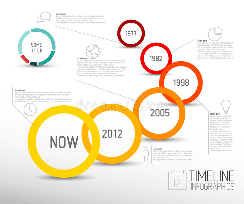 Vector Infographic timeline report template with icons royalty free illustration