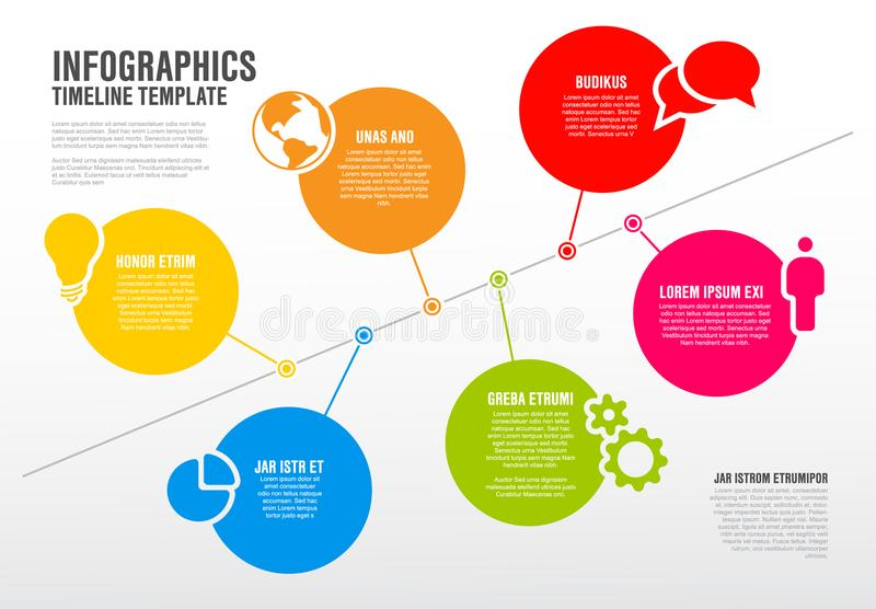 Vector infographic timeline schema template stock vector vector infographic timeline diagram template made from lines circles and icons ccuart Images