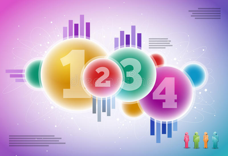 Vector infographics design stock illustration