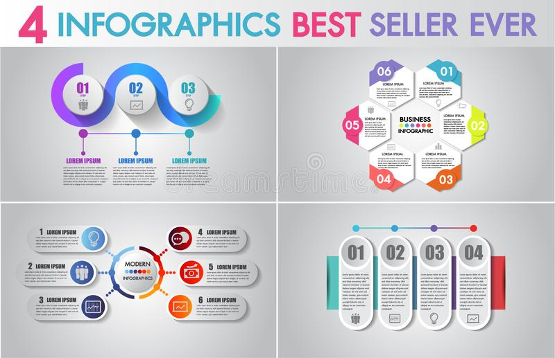 Vector Infographics design and business marketing icons set can be used for workflow layout, diagram, annual report, web design. vector illustration