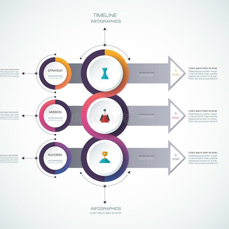 Vector infographics design template stock illustration