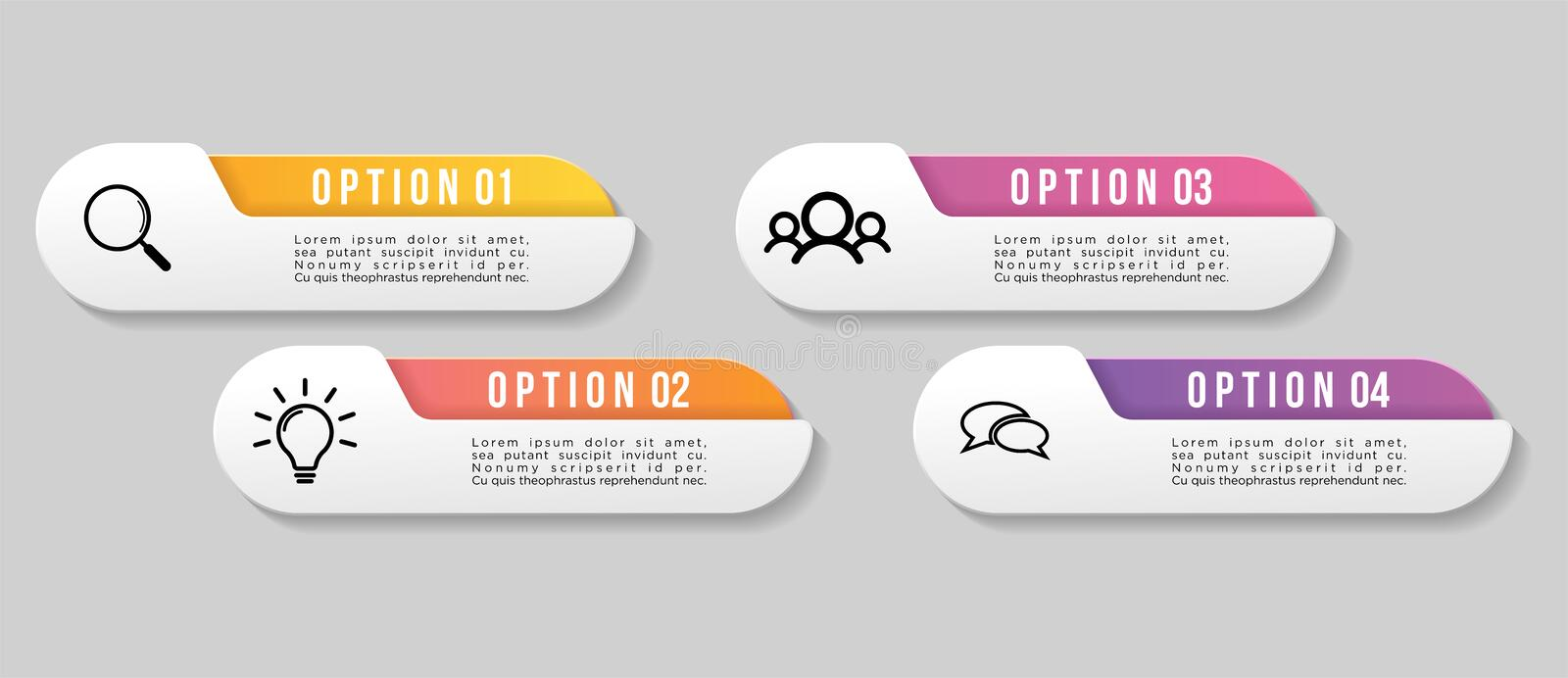 Vector Infographics Elements Template Design. Business Data Visualization Timeline with Marketing Icons most useful can be used. For presentation, diagrams royalty free illustration