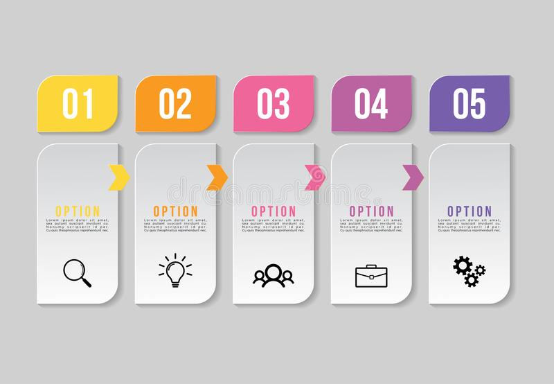 Vector Infographics Elements Template Design . Business Data Visualization Timeline with Marketing Icons most useful can be used f. Vector infographics elements vector illustration