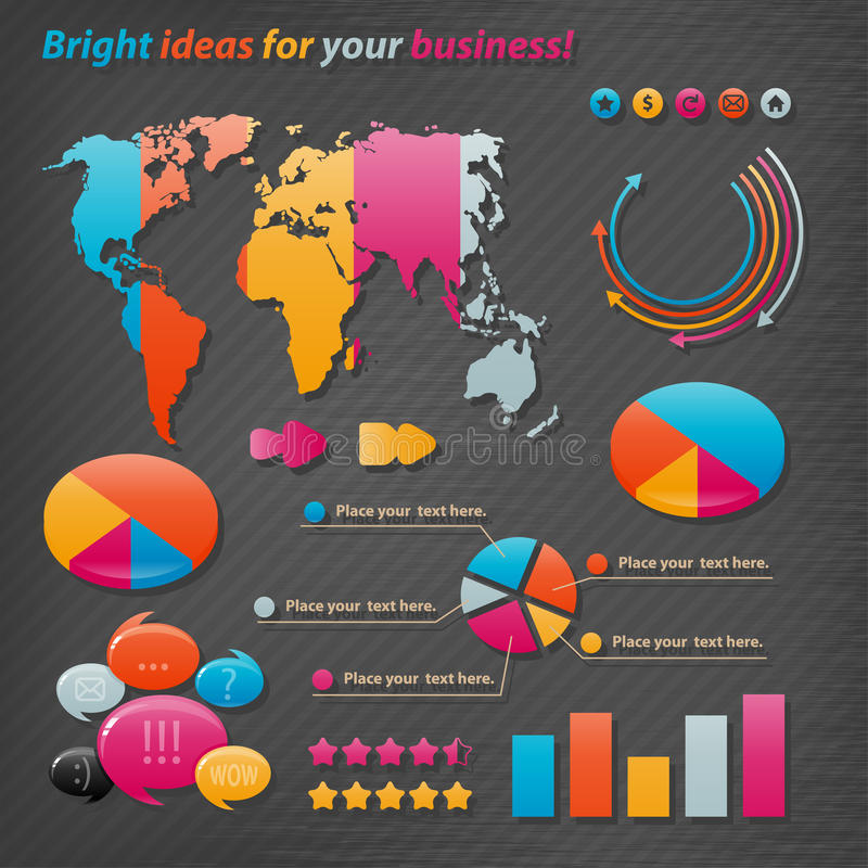 Vector Infographics Stock Images