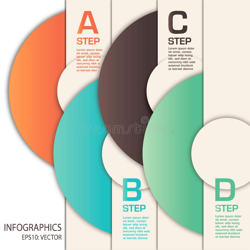 Vector infographics template with circles stock images