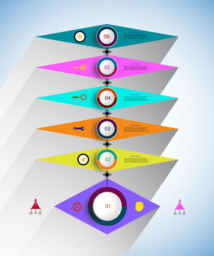 Vector infographics timeline design template for business concept and icons. vector illustration