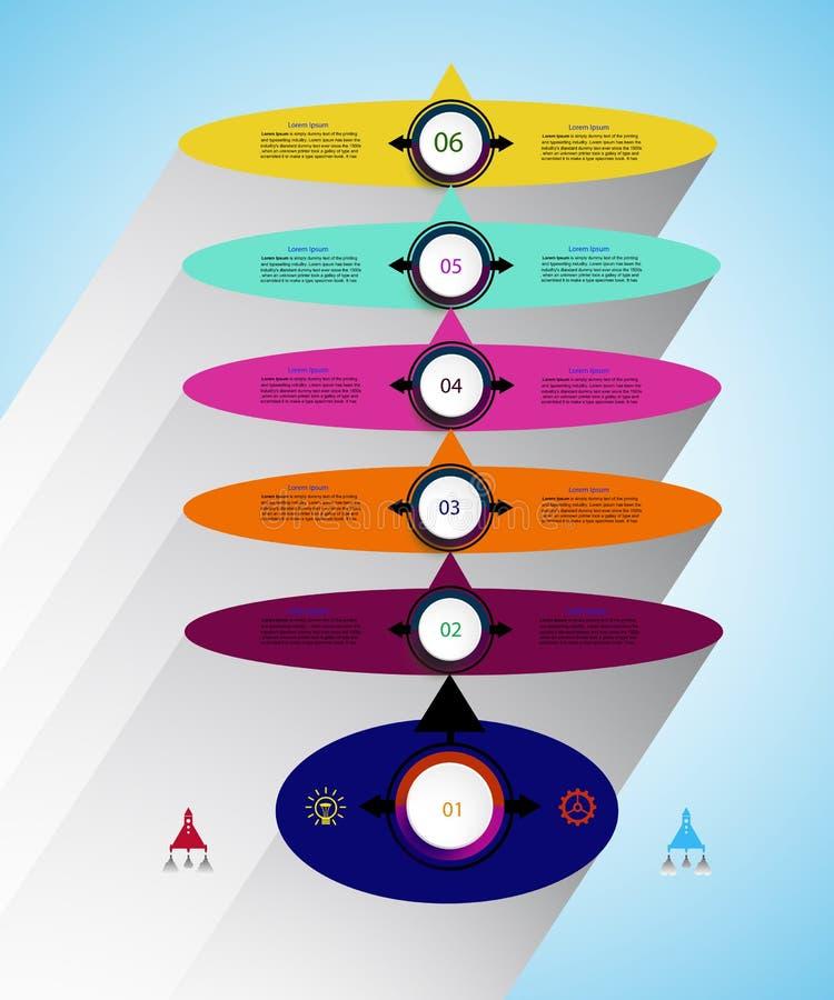 Vector infographics timeline design template for business concept. stock illustration