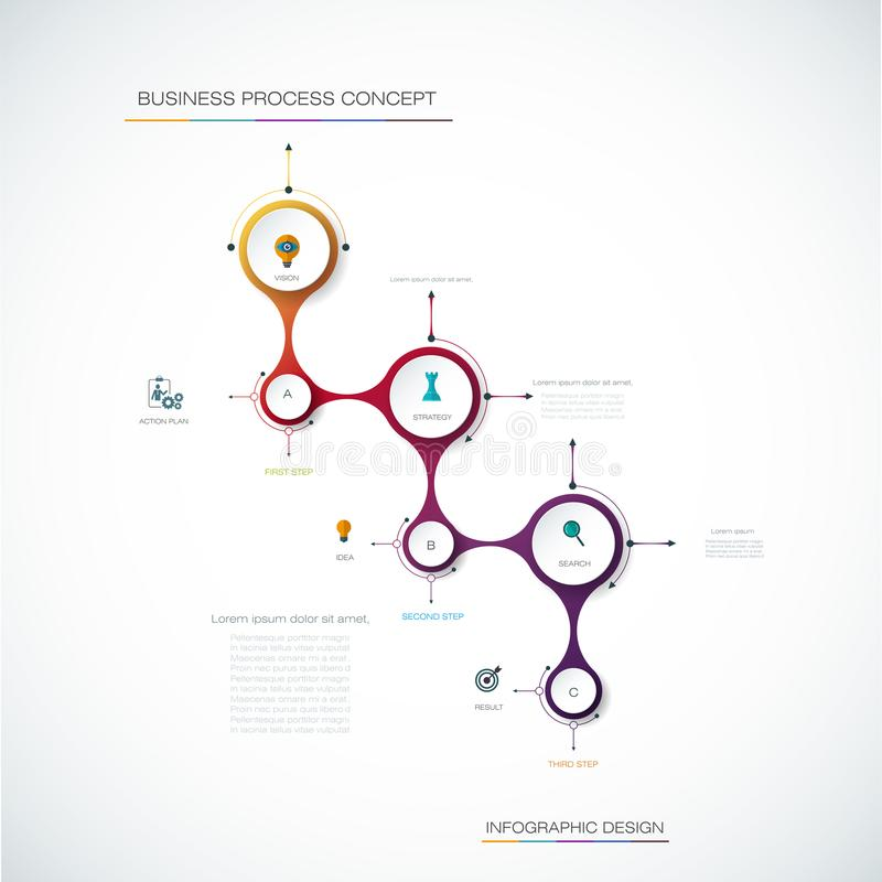 vector infographics timeline design template with 3d paper
