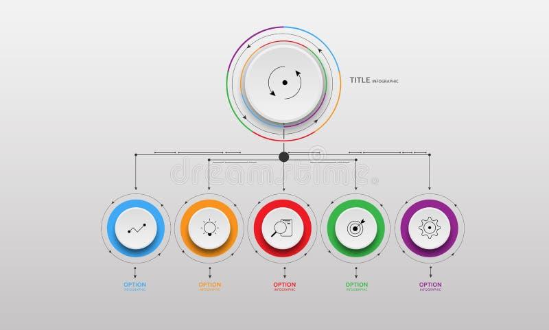 Vector informatie-Grafische cirkeldocument stap royalty-vrije illustratie