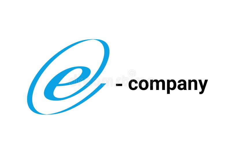 Vector Initial letter E such logo design in At sign form. royalty free illustration