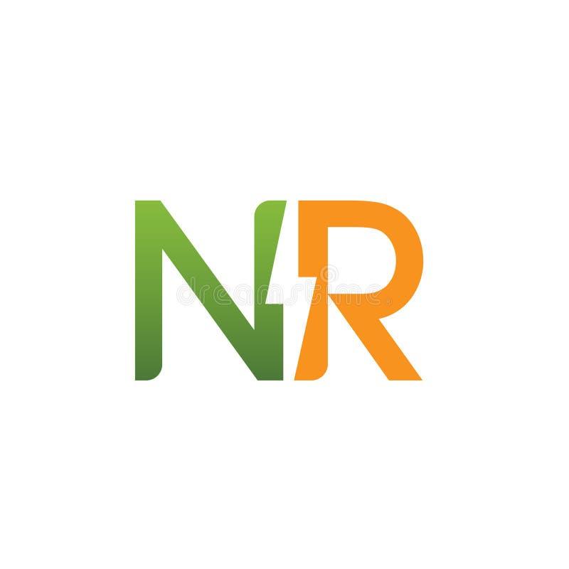 vector initial nr electric logo stock vector illustration of rh dreamstime com