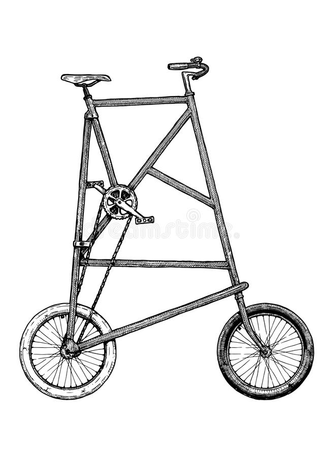 Illustration of tall bike royalty free illustration