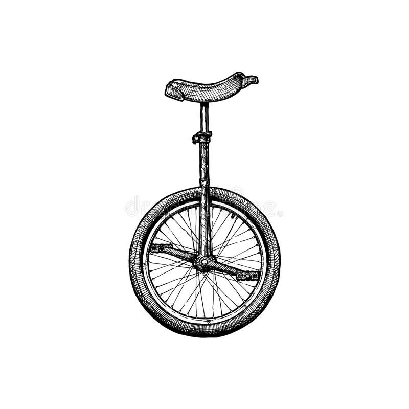 Illustration of unicycle stock illustration