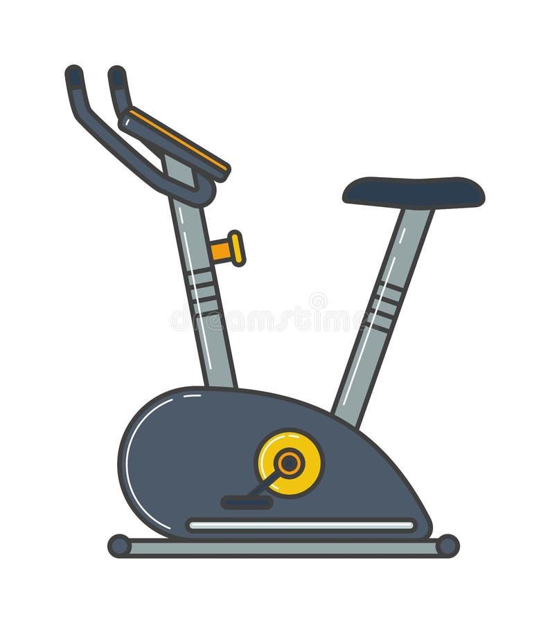 Vector inmóvil de la actividad de la salud de la máquina del gimnasio del deporte de la bicicleta estática libre illustration