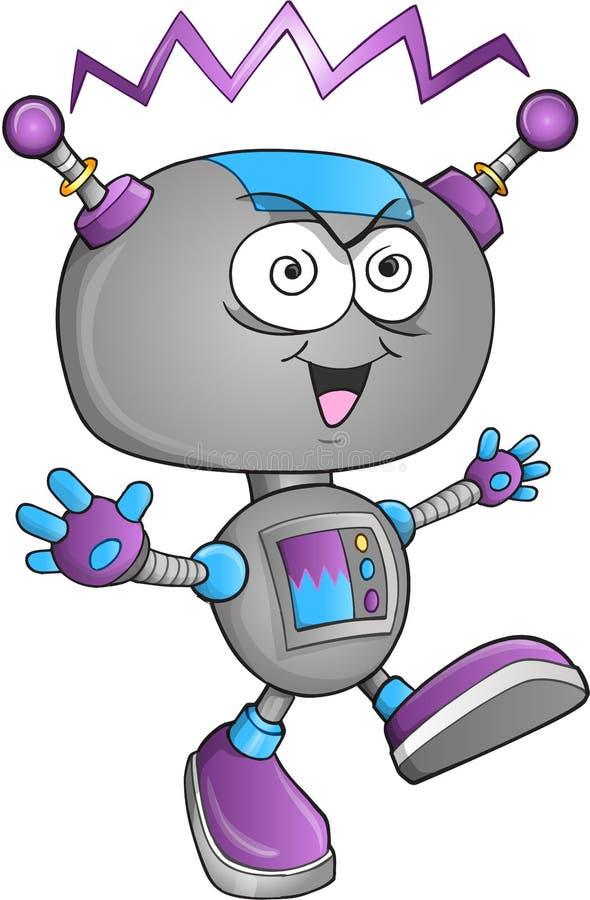 Vector insano del robot ilustración del vector