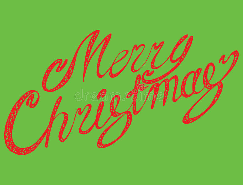 Vector inscription Merry Christmas. Cover title. Drawing by hand. Lettering. The words. Letters. Capital letters. Doodle. Vector inscription Merry Christmas vector illustration