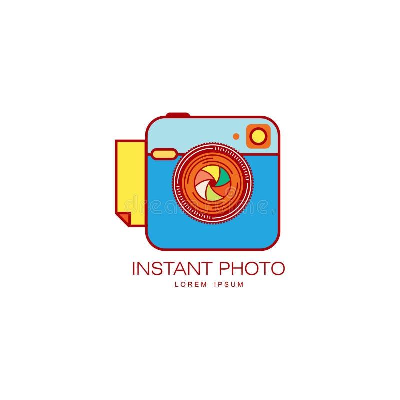 Vector instant photo camera lens icon . vector illustration